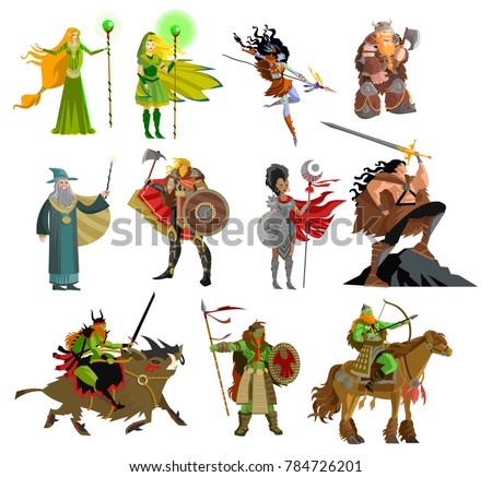 fantasy magical warriors