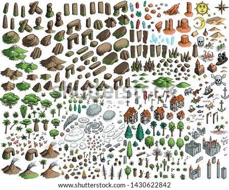 fantasy map elements