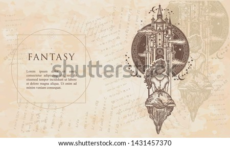 fantasy medieval castle and