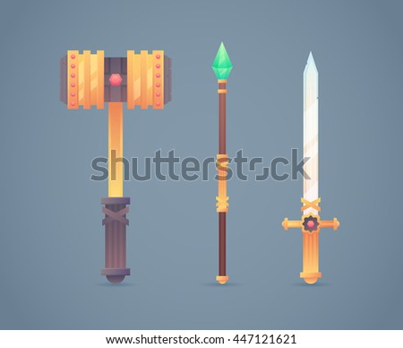 fantasy medieval cold weapon