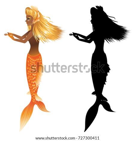 fantasy mermaid with dark skin