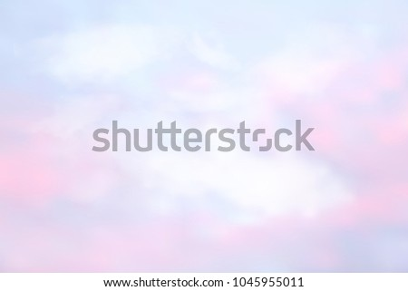 fantasy pastel of sky and soft
