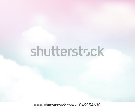 fantasy pastel of sky and soft cloud abstract background. Vector illustration