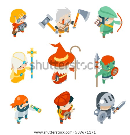 fantasy rpg game characters