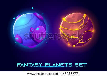 fantasy space planets for ui