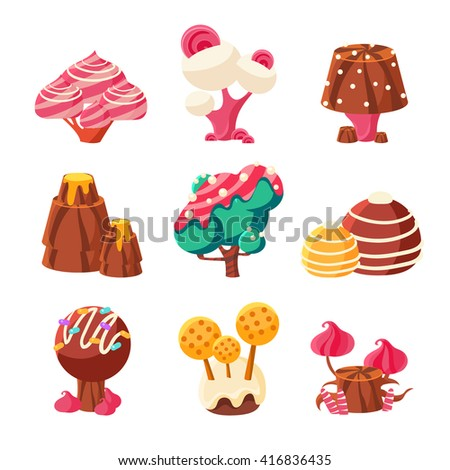 fantasy sweet trees set of