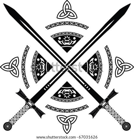 fantasy swords. fourth variant. vector illustration