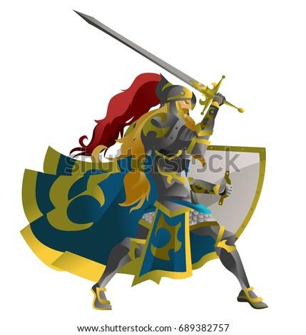 fantasy warrior knight with