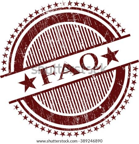 FAQ grunge stamp