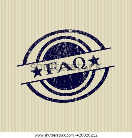 FAQ grunge style stamp