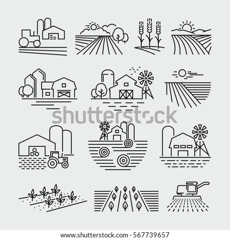 farm and farming fields line