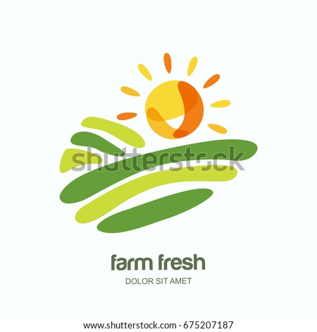 farm and farming vector logo