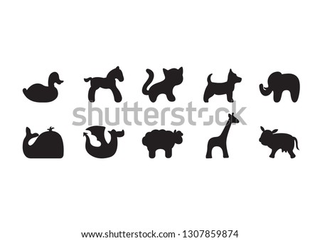 FARM AND WILD ANIMALS SILHOUETTES