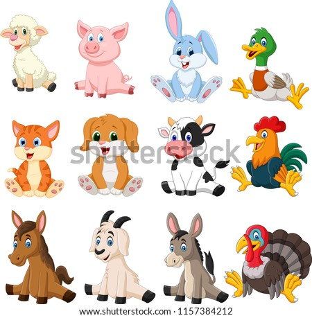 Farm animal collection set #1157384212