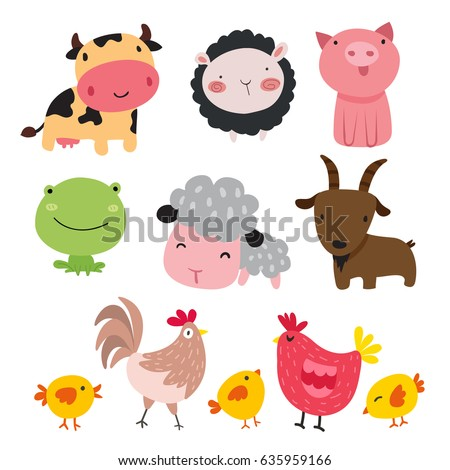 Farm animals character design