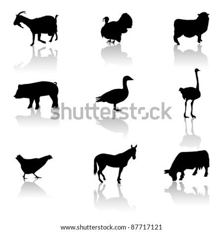 farm animals icons