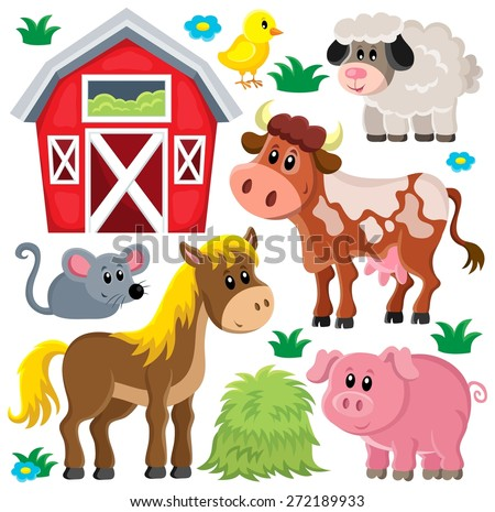 farm animals set   eps10 vector