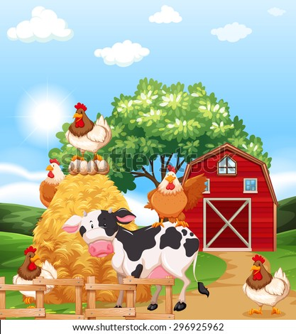 farm animals together in the
