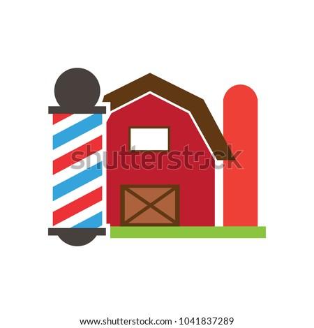 Farm Barber Logo Icon Design