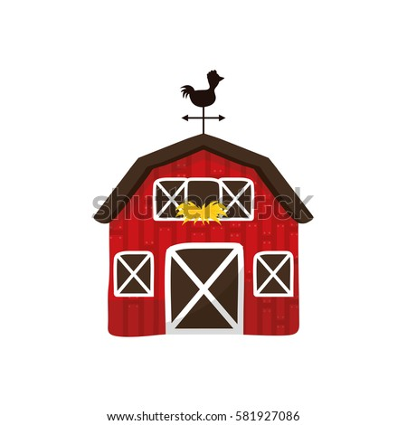 Farm barn building icon vector illustration graphic design