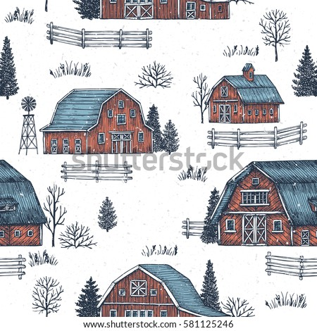 farm country seamless pattern