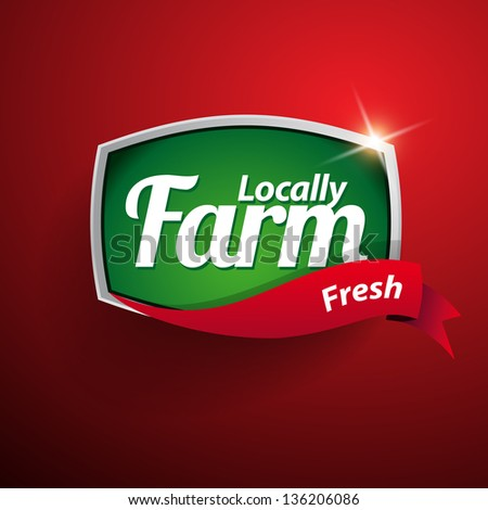 Farm food label badge or seal