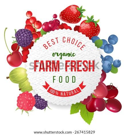 farm fresh berries emblem