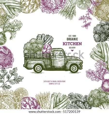 farm fresh delivery design...
