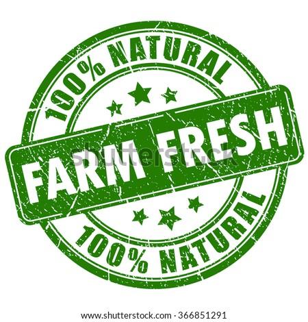 farm fresh natural stamp