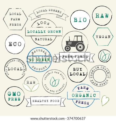 farm fresh organic stamps set