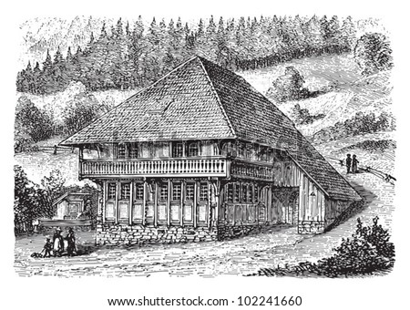 farm house schwarzwald  black