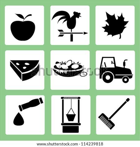 farm icon set  agriculture