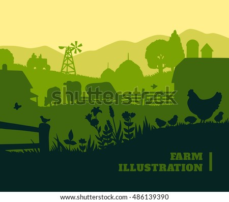 farm illustration background