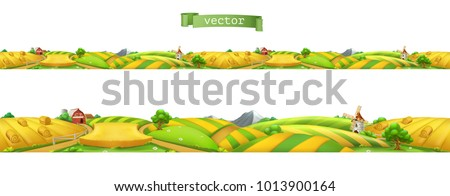 farm landscape  seamless