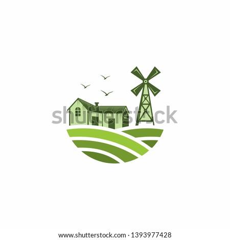 Farm Logo Template Stock Vector
