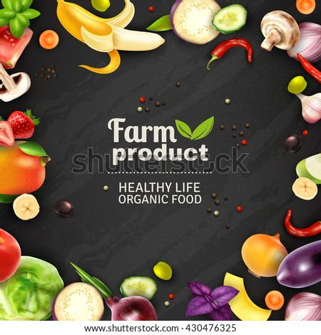 farm product typographic poster