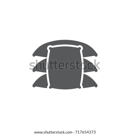 farm sack isolated icon on the white background