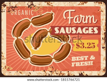 farm sausages chain rusty metal