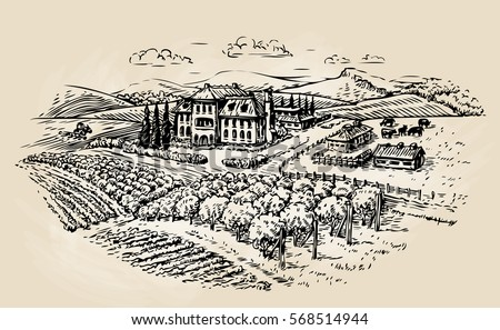 farm sketch. farming ...