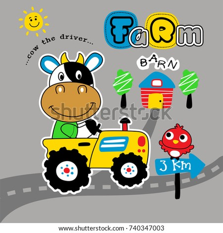 farm tractor cartoon