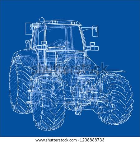 farm tractor concept vector