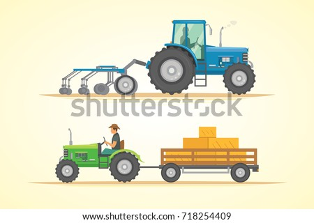 farm tractor icon vector