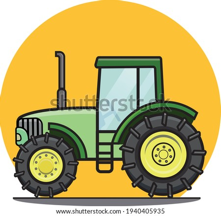farm tractor illustration