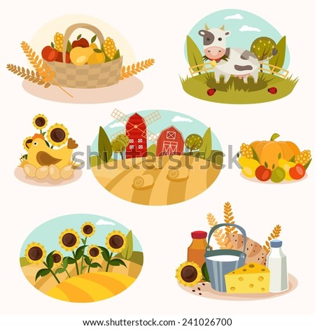 farm vector set   7 detailed