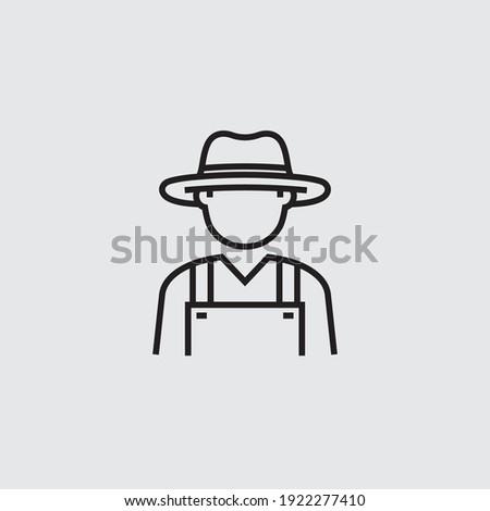 Farmer Avatar Vector Line Icon Photo stock ©