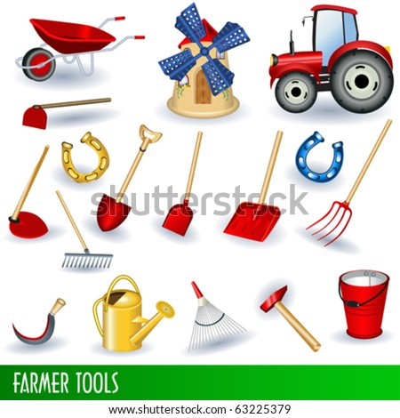 Farmer clip art collection