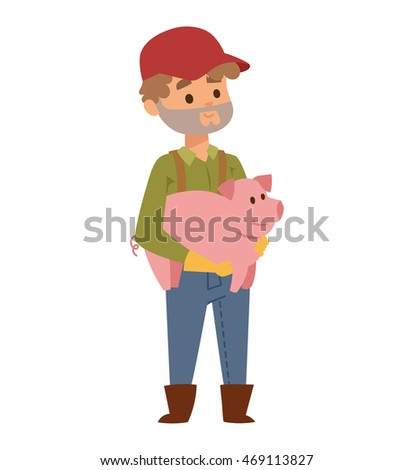 farmer holding on hands young