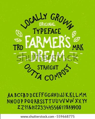 farmer's dream. hand drawn...
