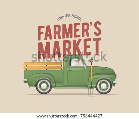 farmer's market themed vintage...