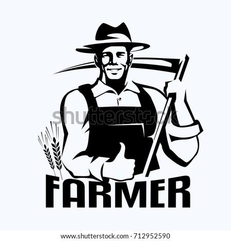 farmer stylized portrait ...
